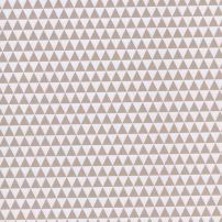 Triangles taupe et blanc